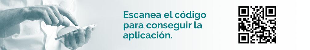 Código QR de descarga de la aplicación dental de Ruano Policlínica Dental