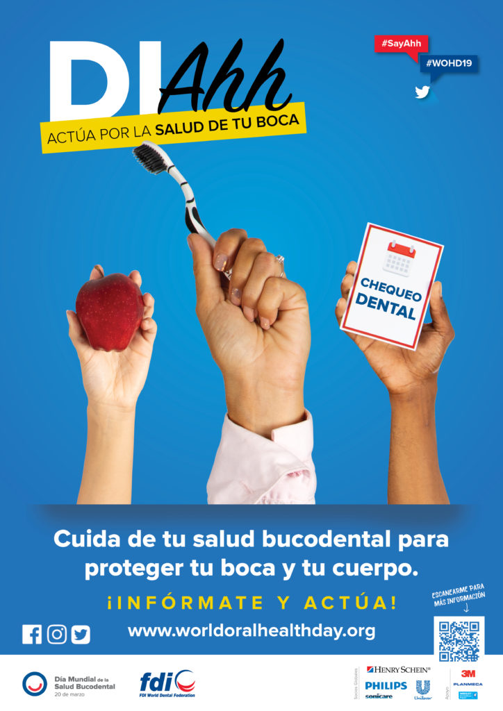 Póster de la FDI sobre el Día Mundial de la Salud Bucodental